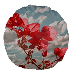Flowers In The Sky 18  Premium Round Cushion  by dflcprints