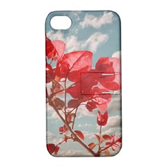 Flowers In The Sky Apple Iphone 4/4s Hardshell Case With Stand by dflcprints