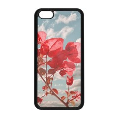 Flowers In The Sky Apple Iphone 5c Seamless Case (black) by dflcprints