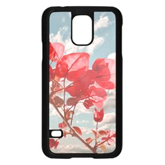 Flowers In The Sky Samsung Galaxy S5 Case (black) by dflcprints