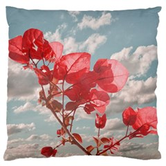Flowers In The Sky Large Flano Cushion Case (one Side) by dflcprints