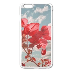 Flowers In The Sky Apple Iphone 6 Plus Enamel White Case