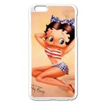 betty boop - Apple iPhone 6 Plus/6S Plus Enamel White Case
