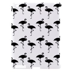 Flamingo Pattern Black On White Apple Ipad 3/4 Hardshell Case (compatible With Smart Cover) by CrypticFragmentsColors