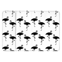 Flamingo Pattern Black On White Samsung Galaxy Tab 8 9  P7300 Flip Case by CrypticFragmentsColors