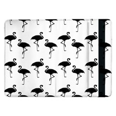 Flamingo Pattern Black On White Samsung Galaxy Tab Pro 12 2  Flip Case by CrypticFragmentsColors