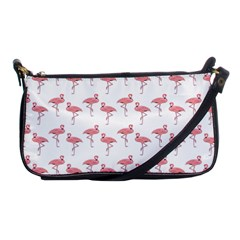 Pink Flamingo Pattern Evening Bag by CrypticFragmentsColors