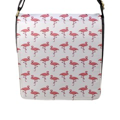 Pink Flamingo Pattern Flap Closure Messenger Bag (large) by CrypticFragmentsColors