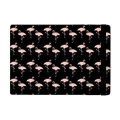 Pink Flamingo Pattern On Black  Apple Ipad Mini Flip Case by CrypticFragmentsColors