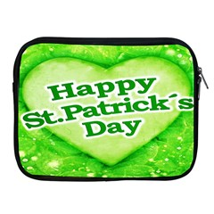 Unique Happy St  Patrick s Day Design Apple Ipad Zippered Sleeve by dflcprints