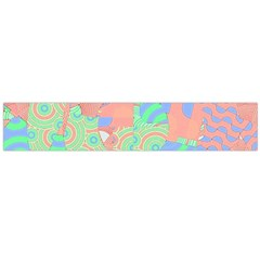Tropical Summer Fruit Salad Flano Scarf (large) by CrypticFragmentsColors
