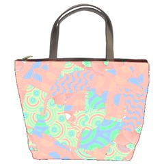 Tropical Summer Fruit Salad Bucket Bag by CrypticFragmentsColors