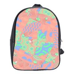 Tropical Summer Fruit Salad School Bag (large)