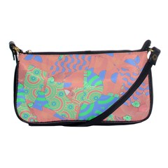 Tropical Summer Fruit Salad Shoulder Clutch Bag by CrypticFragmentsColors