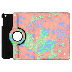 Tropical Summer Fruit Salad Apple Ipad Mini Flip 360 Case by CrypticFragmentsColors