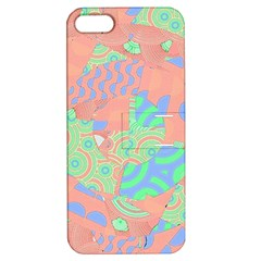 Tropical Summer Fruit Salad Apple iPhone 5 Hardshell Case with Stand by CrypticFragmentsColors