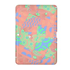Tropical Summer Fruit Salad Samsung Galaxy Tab 2 (10 1 ) P5100 Hardshell Case  by CrypticFragmentsColors