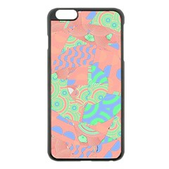 Tropical Summer Fruit Salad Apple Iphone 6 Plus/6s Plus Black Enamel Case by CrypticFragmentsColors