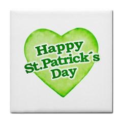 Happy St Patricks Day Design Ceramic Tile by dflcprints