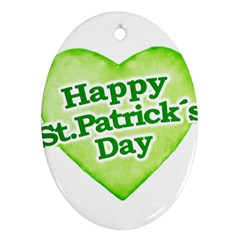 Happy St Patricks Day Design Oval Ornament by dflcprints