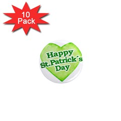 Happy St Patricks Day Design 1  Mini Button Magnet (10 Pack) by dflcprints
