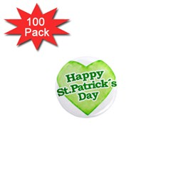 Happy St Patricks Day Design 1  Mini Button Magnet (100 Pack) by dflcprints