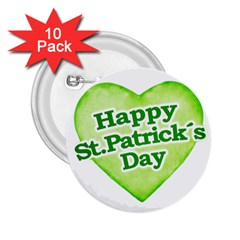 Happy St Patricks Day Design 2 25  Button (10 Pack) by dflcprints