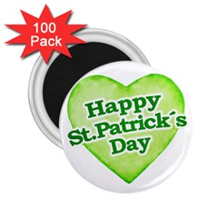 Happy St Patricks Day Design 2 25  Button Magnet (100 Pack) by dflcprints