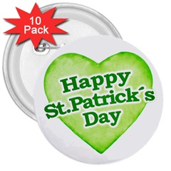 Happy St Patricks Day Design 3  Button (10 Pack) by dflcprints