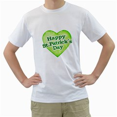 Happy St Patricks Day Design Men s Two Sided T Shirt (white) by dflcprints