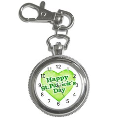 Happy St Patricks Day Design Key Chain Watch by dflcprints