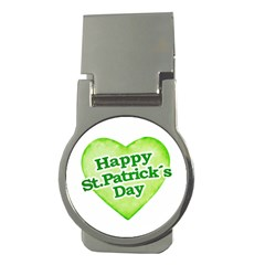 Happy St Patricks Day Design Money Clip (round) by dflcprints