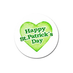 Happy St Patricks Day Design Magnet 3  (round) by dflcprints