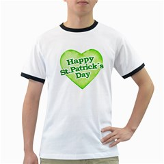 Happy St Patricks Day Design Men s Ringer T Shirt by dflcprints