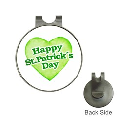 Happy St Patricks Day Design Hat Clip With Golf Ball Marker by dflcprints