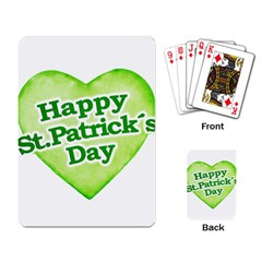 Happy St Patricks Day Design Playing Cards Single Design