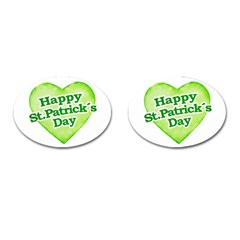 Happy St Patricks Day Design Cufflinks (oval) by dflcprints