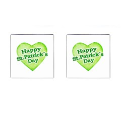 Happy St Patricks Day Design Cufflinks (square) by dflcprints