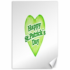 Happy St Patricks Day Design Canvas 20  x 30  (Unframed)