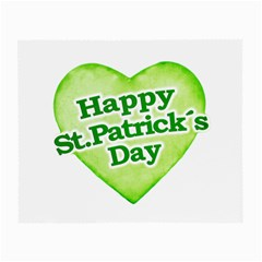 Happy St Patricks Day Design Glasses Cloth (small, Two Sided) by dflcprints