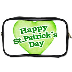Happy St Patricks Day Design Travel Toiletry Bag (one Side) by dflcprints
