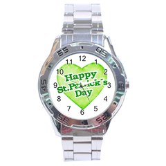 Happy St Patricks Day Design Stainless Steel Watch by dflcprints