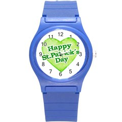 Happy St Patricks Day Design Plastic Sport Watch (small) by dflcprints