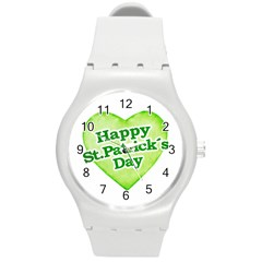Happy St Patricks Day Design Plastic Sport Watch (medium) by dflcprints