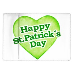Happy St Patricks Day Design Samsung Galaxy Tab 10 1  P7500 Flip Case by dflcprints
