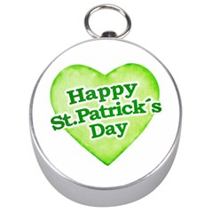 Happy St Patricks Day Design Silver Compass by dflcprints