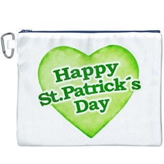 Happy St Patricks Day Design Canvas Cosmetic Bag (xxxl) by dflcprints