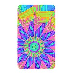 Neon Flower Purple Hot Pink Orange Memory Card Reader (rectangular) by CrypticFragmentsColors