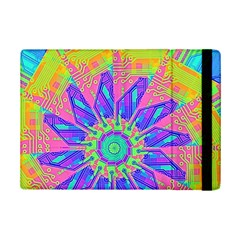 Neon Flower Purple Hot Pink Orange Apple Ipad Mini 2 Flip Case by CrypticFragmentsColors