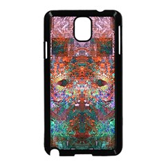 Colorful Abstract Modern Art Red Purple Samsung Galaxy Note 3 Neo Hardshell Case (Black)